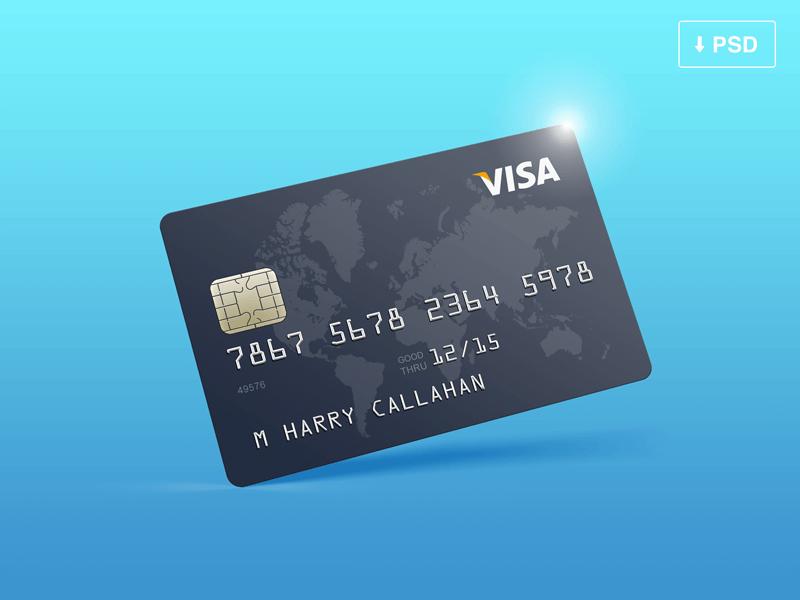 Credit Card Mockup FREE PSD