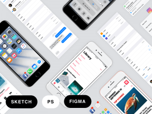 Facebook iOS 10 Sketch, PSD, Figma Guideline