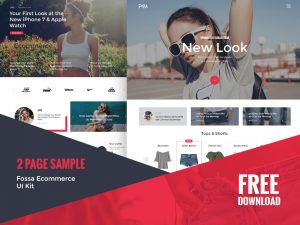 Fossa Ecommerce UI Kit Free PSD