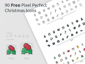 2017 Christmas Icon Set SVG