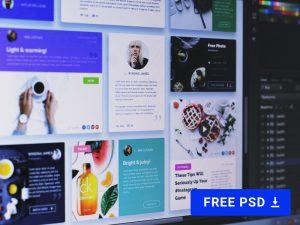 Flat Lay UI kit FREE PSD