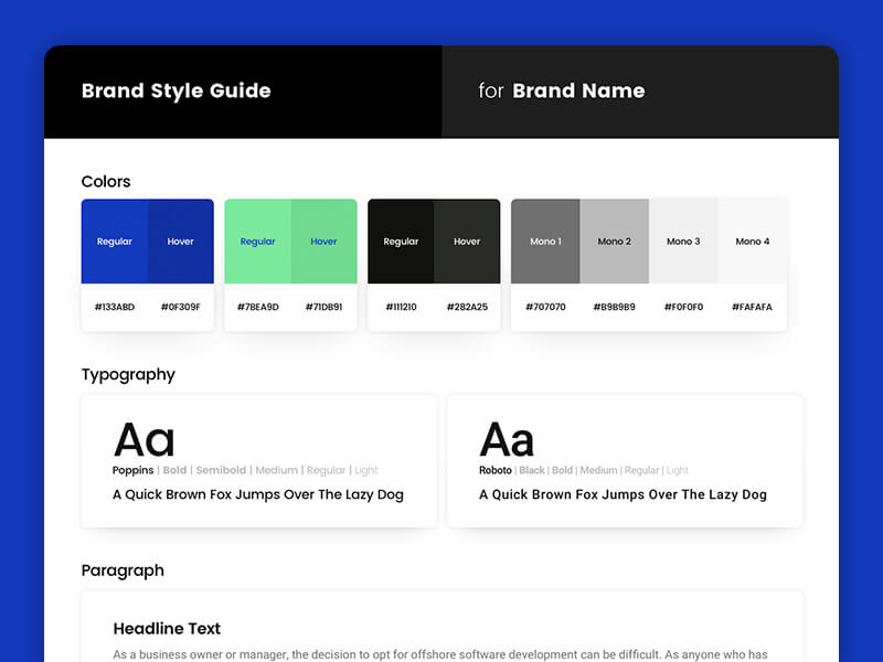 Brand Style Guide Sketch app