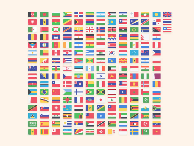 Country Flags PSD