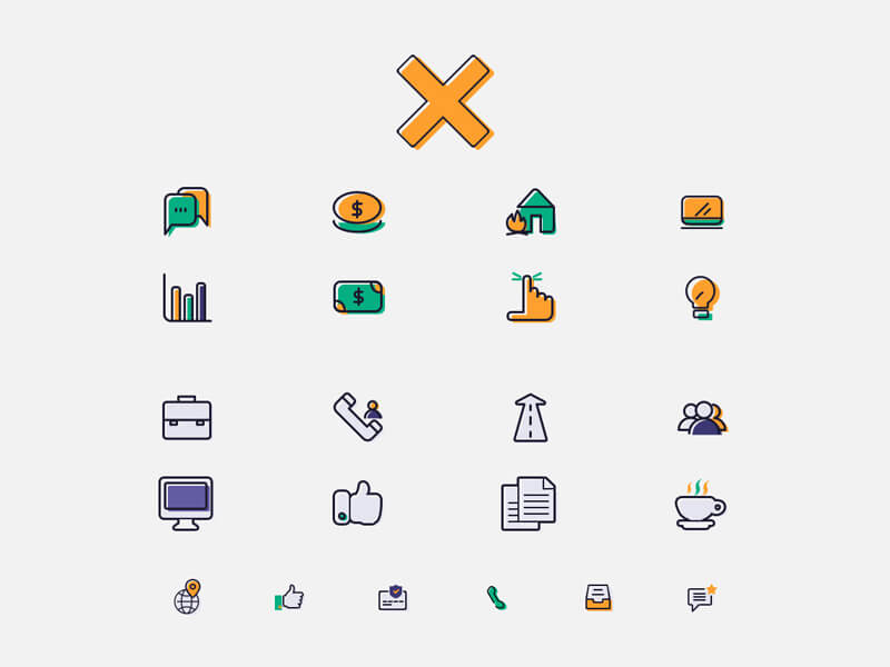 Finance Services Icons PSD