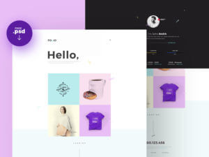 Folio Homepage PSD