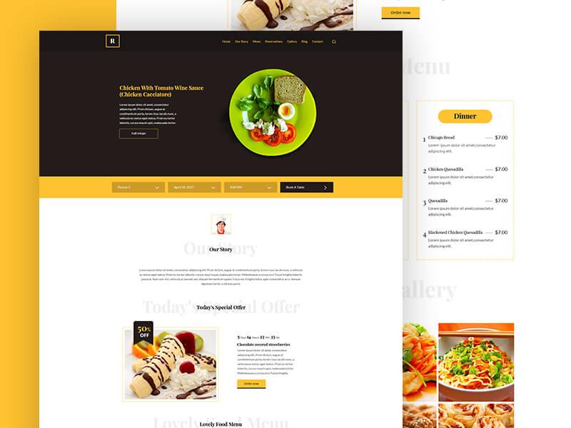 Restaurant Template PSD