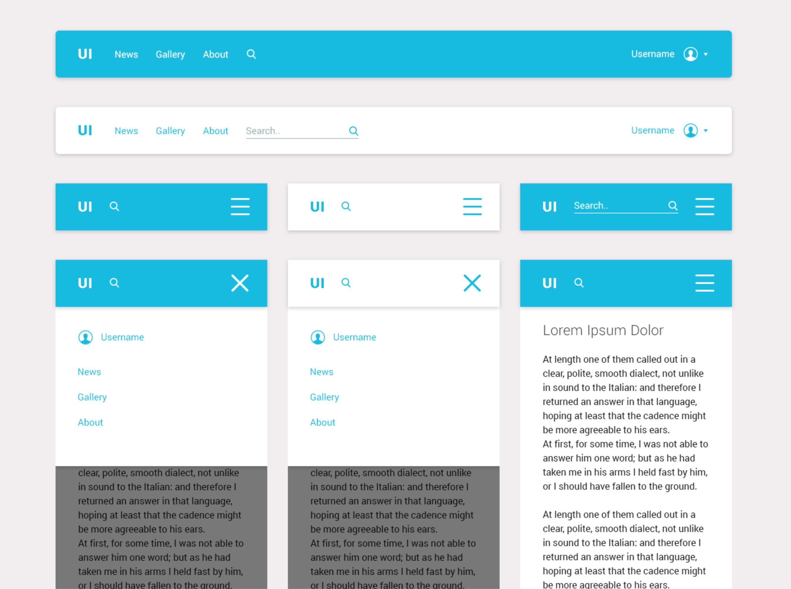 Random UI Kit PSD