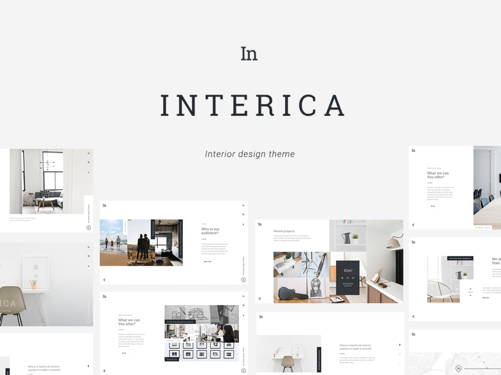 Interior Website Template PSD