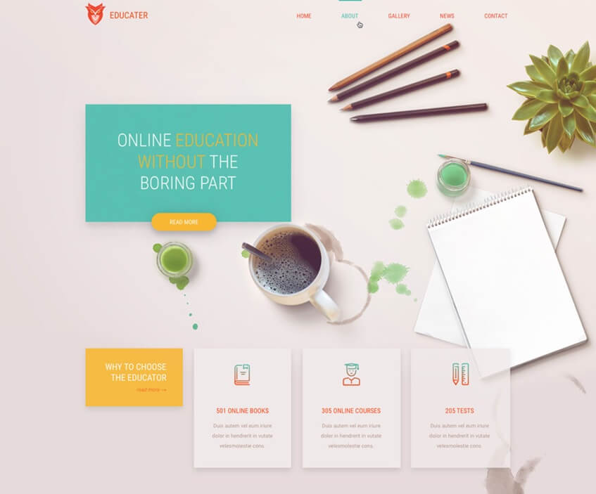 Education Site PSD Template