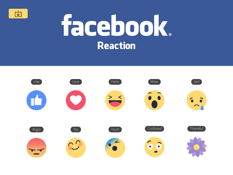 Facebook empathetic emoji reactions