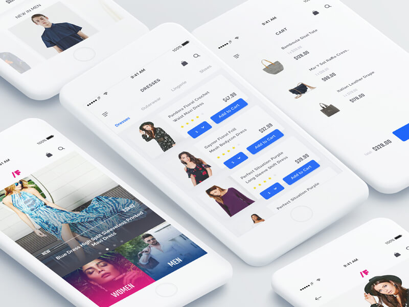 Fashion App UI Kit Sketch app