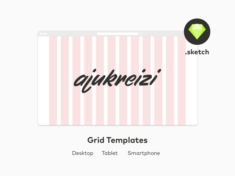 Grid Template for Desktop-Tablet-Smartphone
