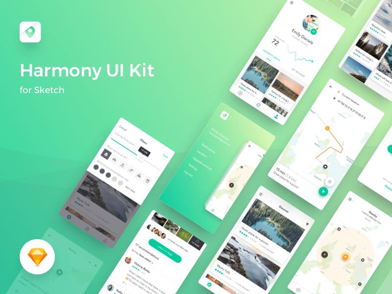 Harmony UI Kit Sketchapp