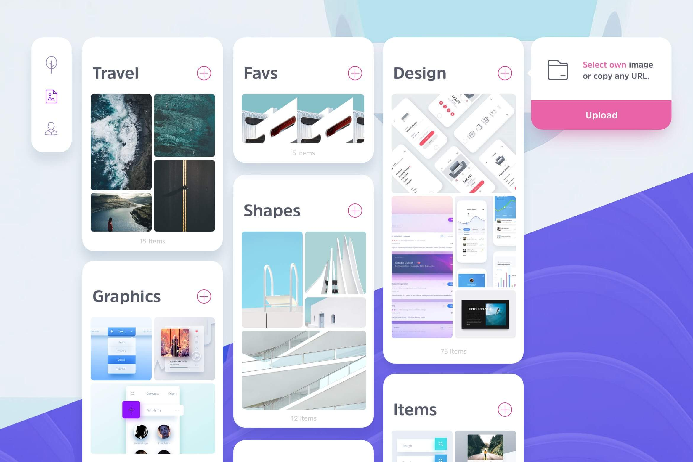 Pinboard Web UI Sketchapp