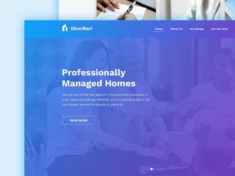 Real Estate Web Template PSD