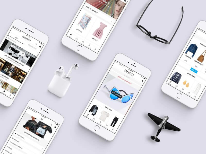 White iPhone Showcase Mockup PSD
