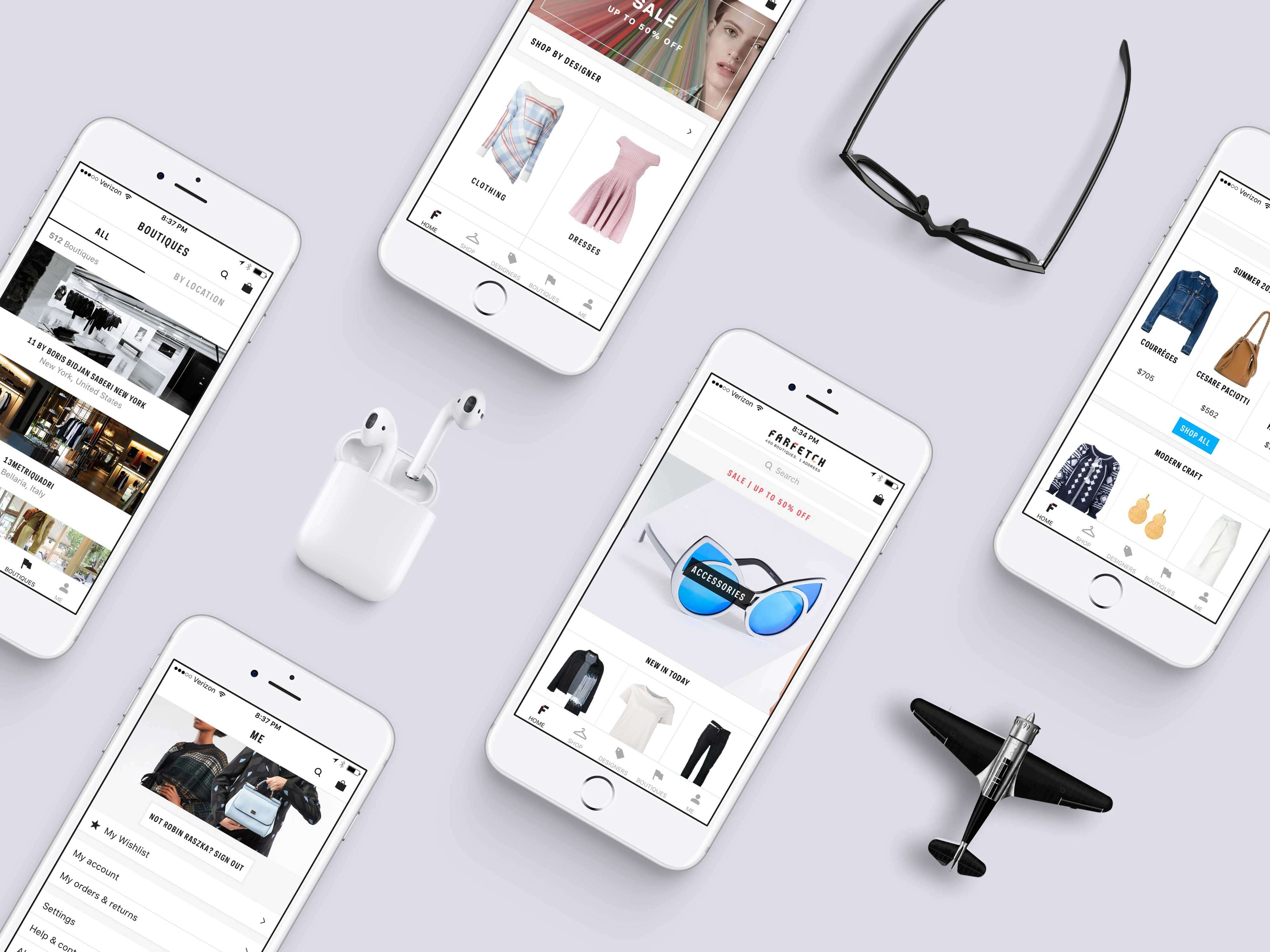 White iPhone Showcase Mockup PSD