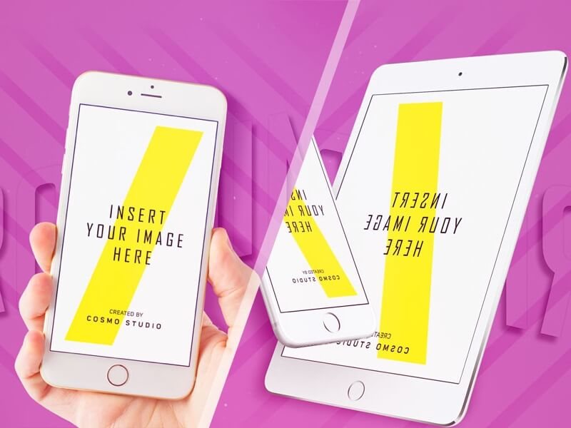 iPhone and iPad Mockups PSD