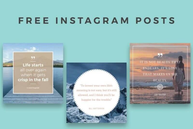 instagram posts templates PSD