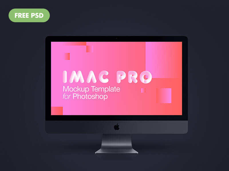 Imac Pro New 2017 Dark Grey PSD