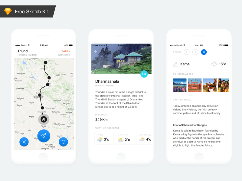 Itinerary creation on Mobile