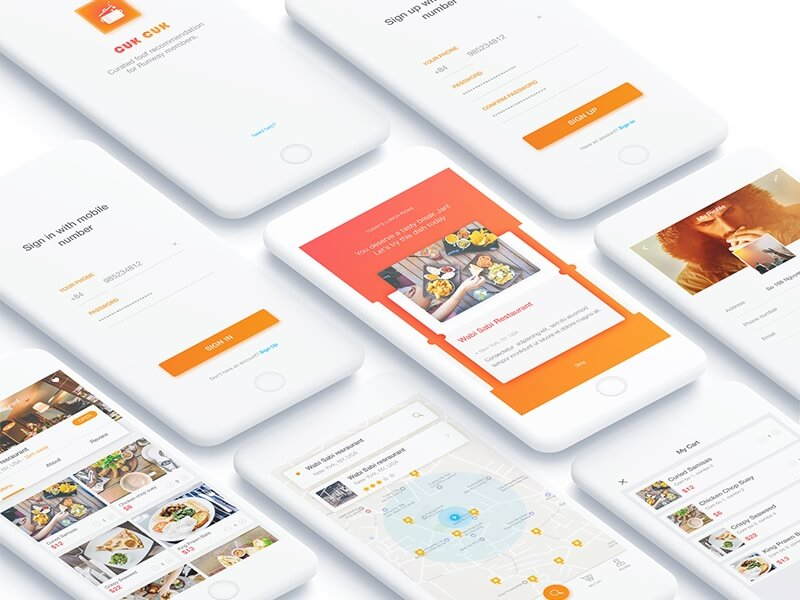 cook .app project UI Kit PSD