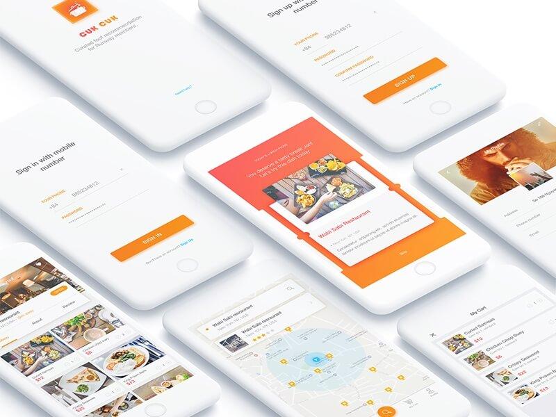 cook .app project UI Kit PSD