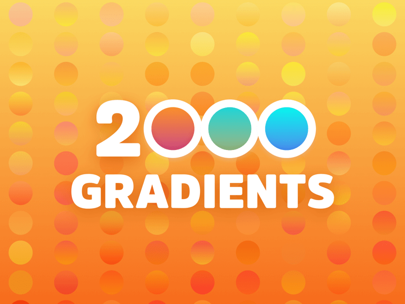 2000 colorful Sketch Gradients