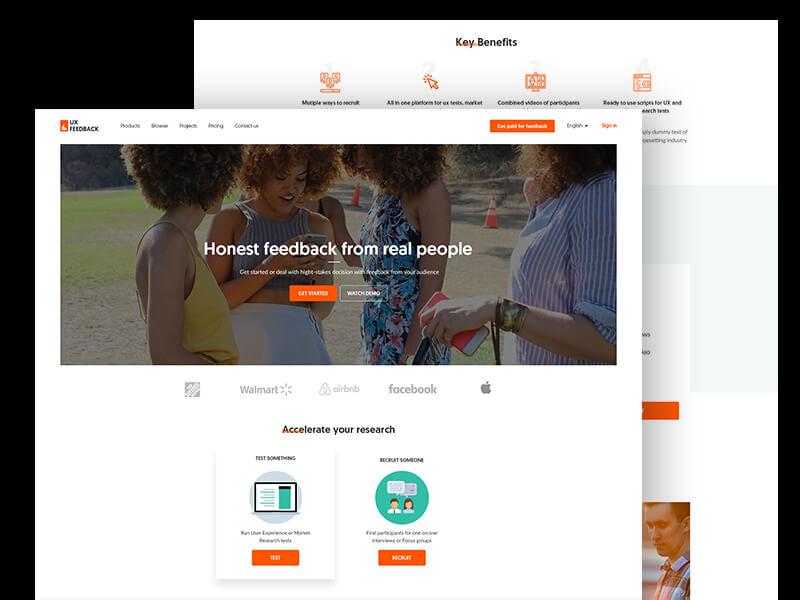 Clean homepage webdesign