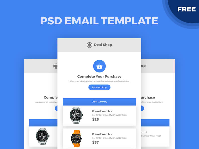 Email Template PSD | Free PSDs & Sketch App Resources for ...