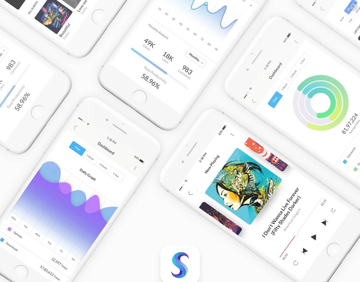 Sobo mobile UI Kit PSD
