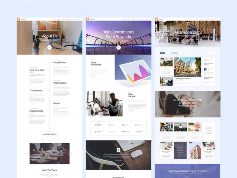 Amazing website template PSD