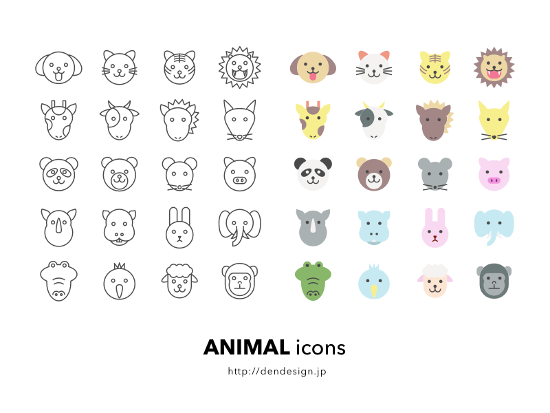Animal Icons sketchapp
