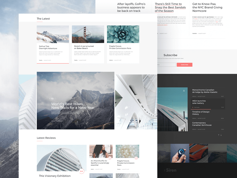 Siren Wordpress Magazine Sketch Template