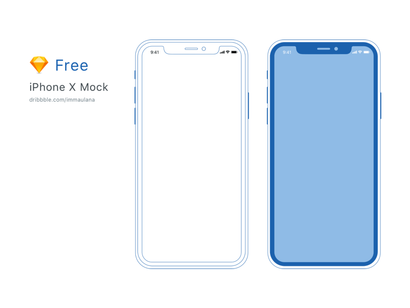 Minimal iPhone X Mockup Sketchapp