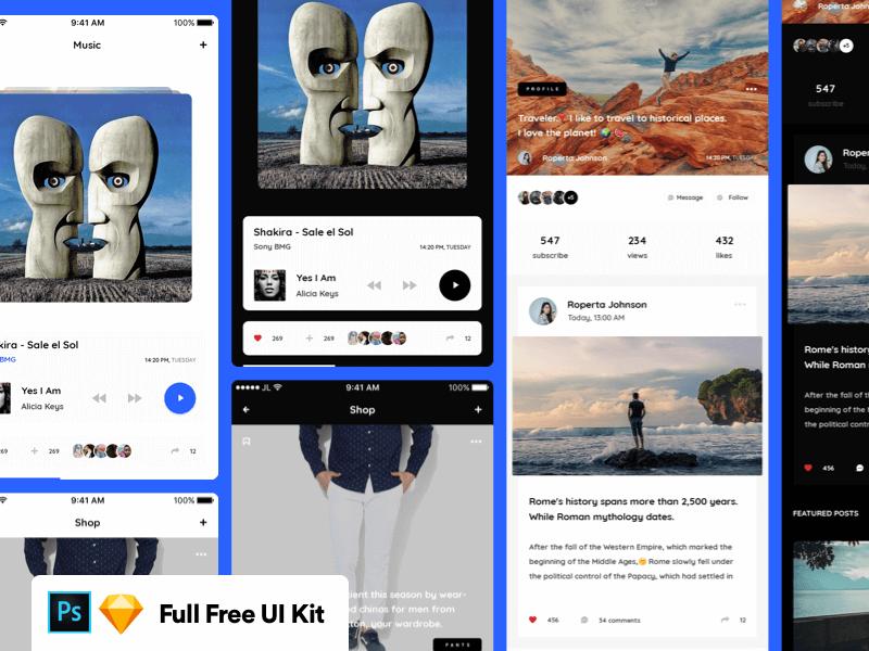 Vera Block Full Mobile UI Kit