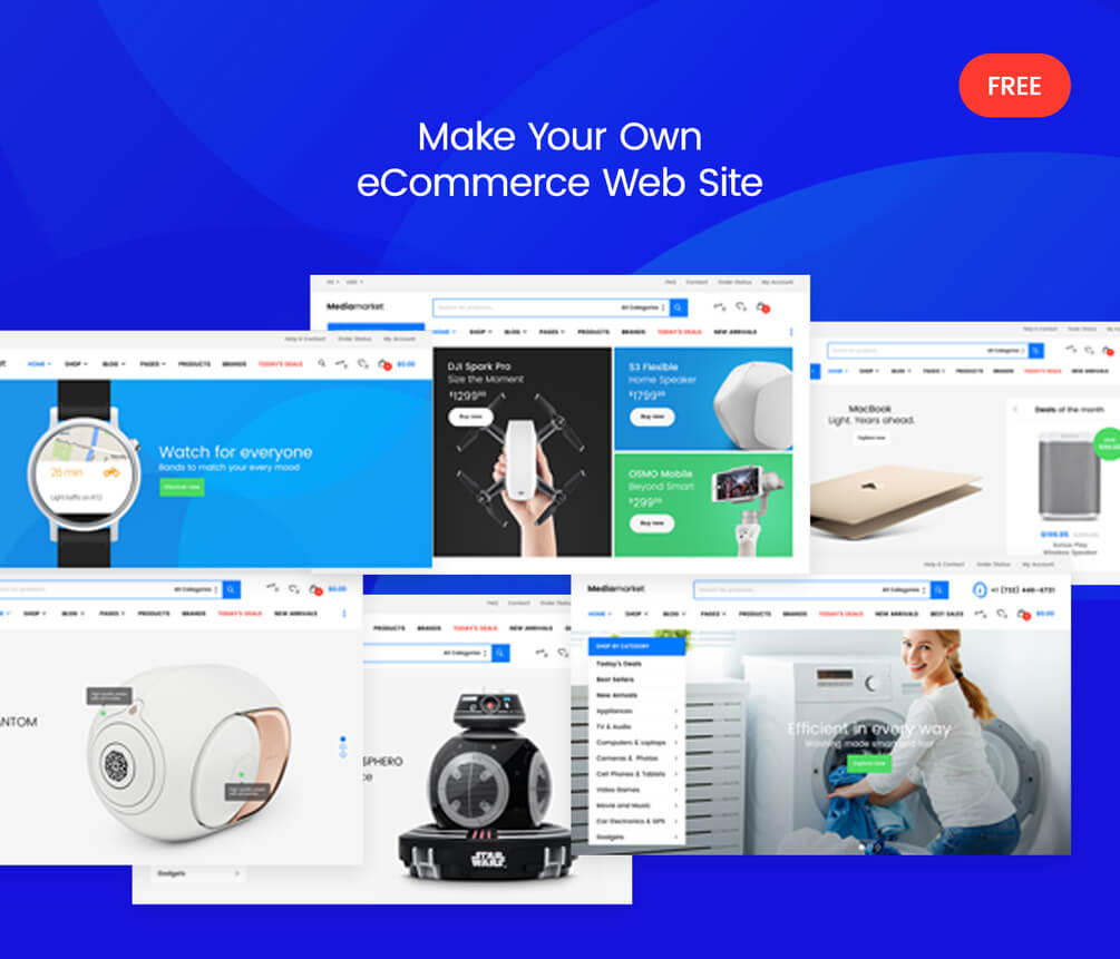 Electronics eCommerce Website PSD