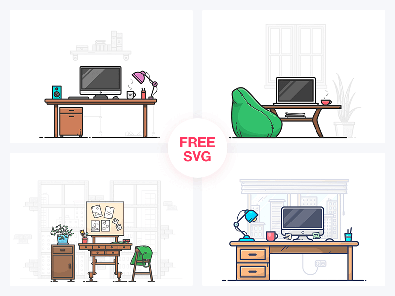 FREE Workspaces icons