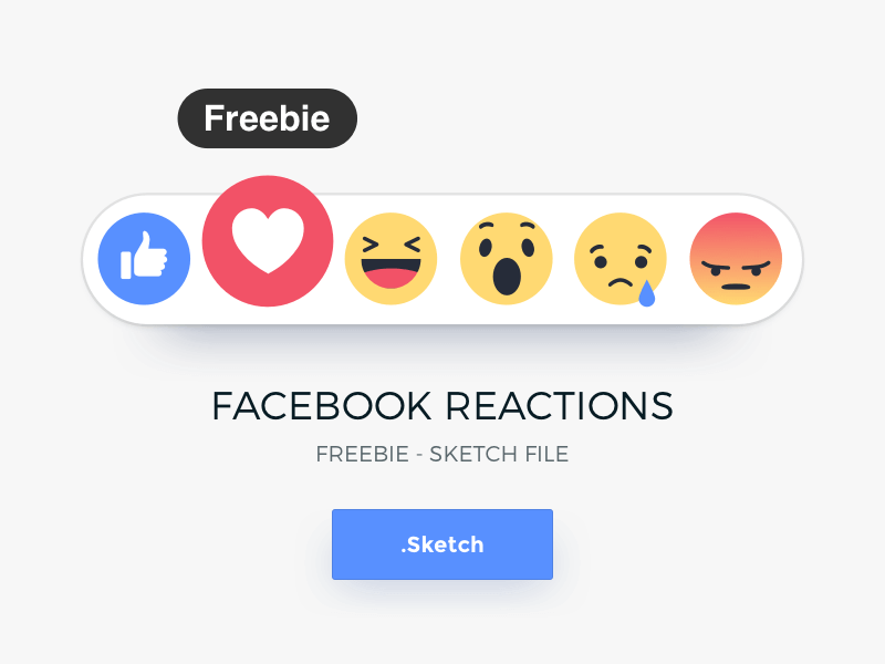 Facebook Reactions Sketchapp