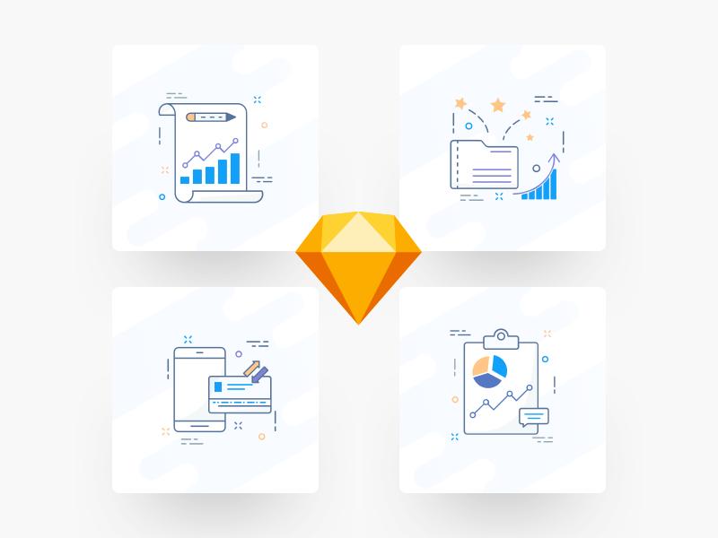 Finance icons sketchapp