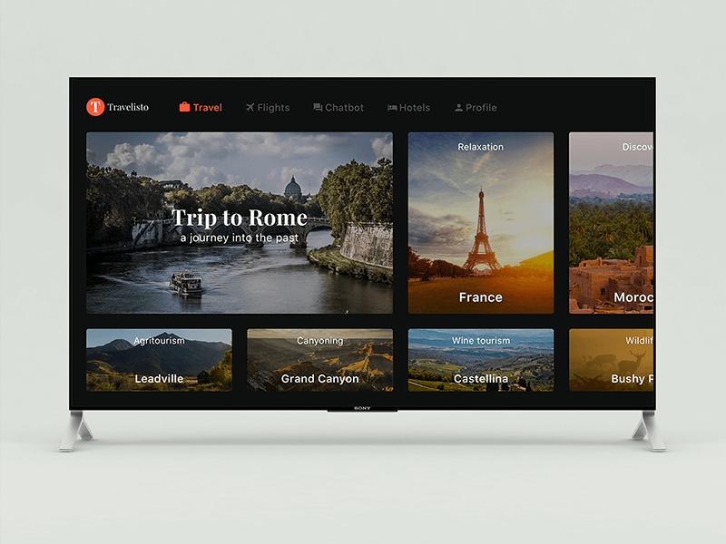 Travelisto for Apple TV Sketchapp