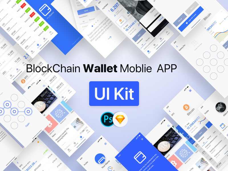 Wallet UI Kit PSD & Sketchapp