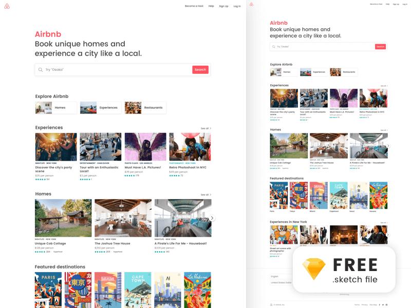 Airbnb Landing Page UI kit