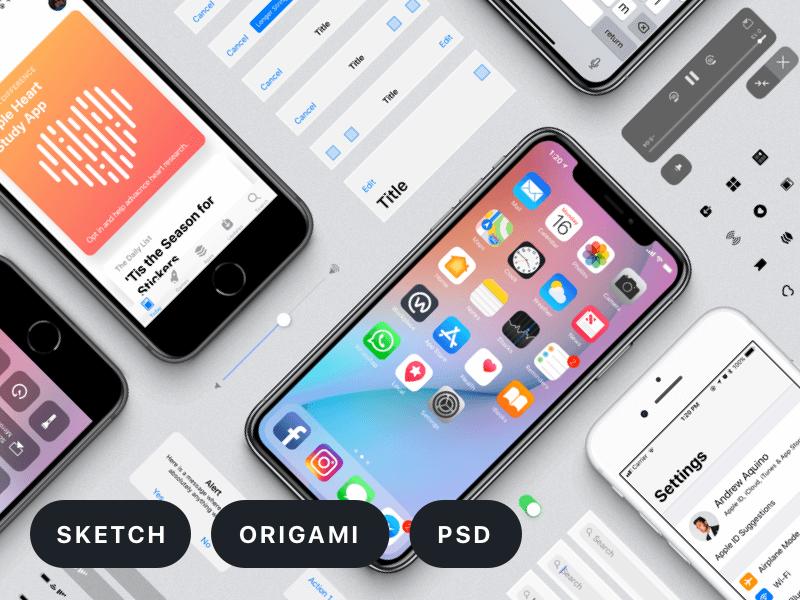 Facebook Design's iOS 11 GUI Free