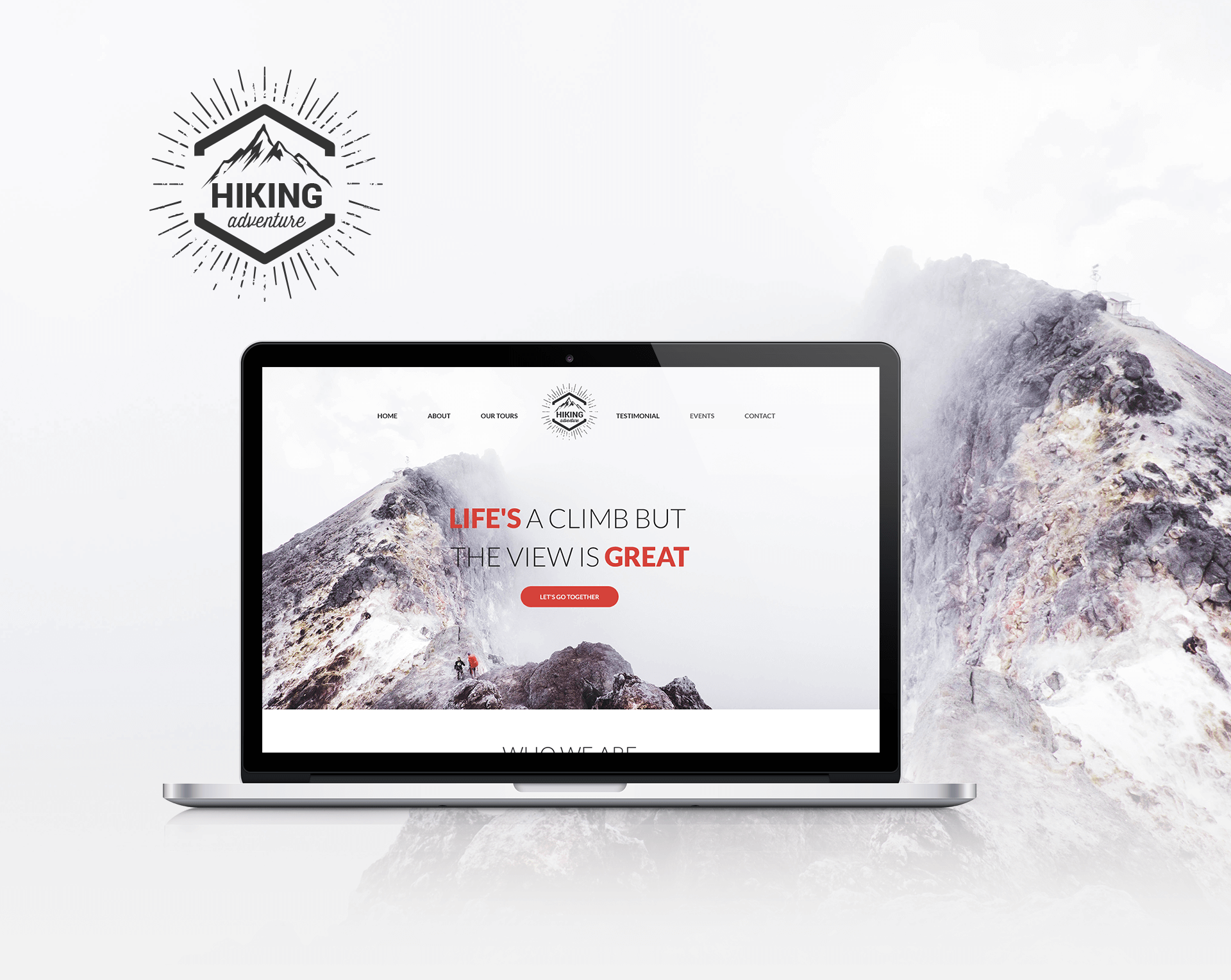 Hiking & Adventure Tour Template PSD