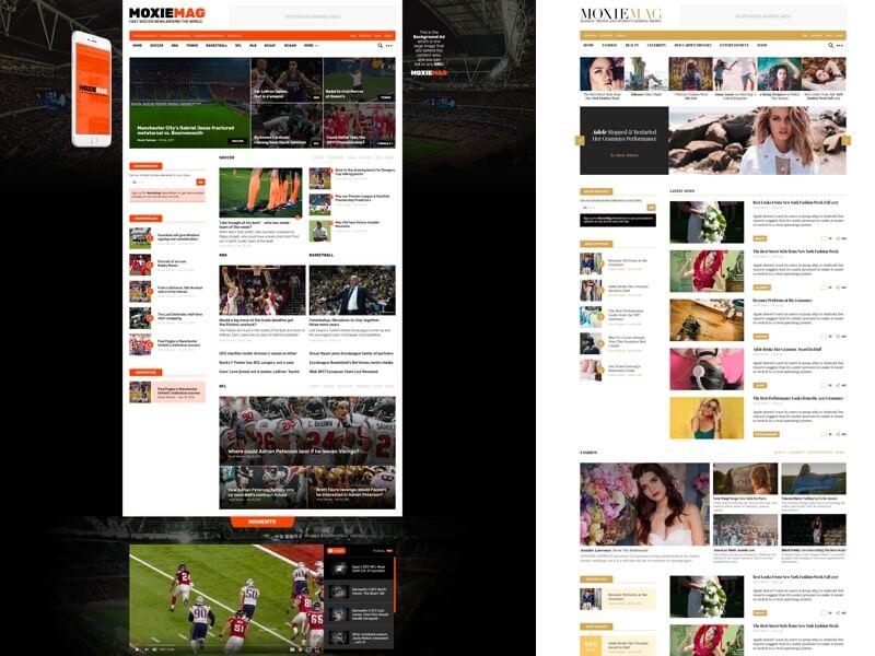 MoxieMag Magazine Free PSD