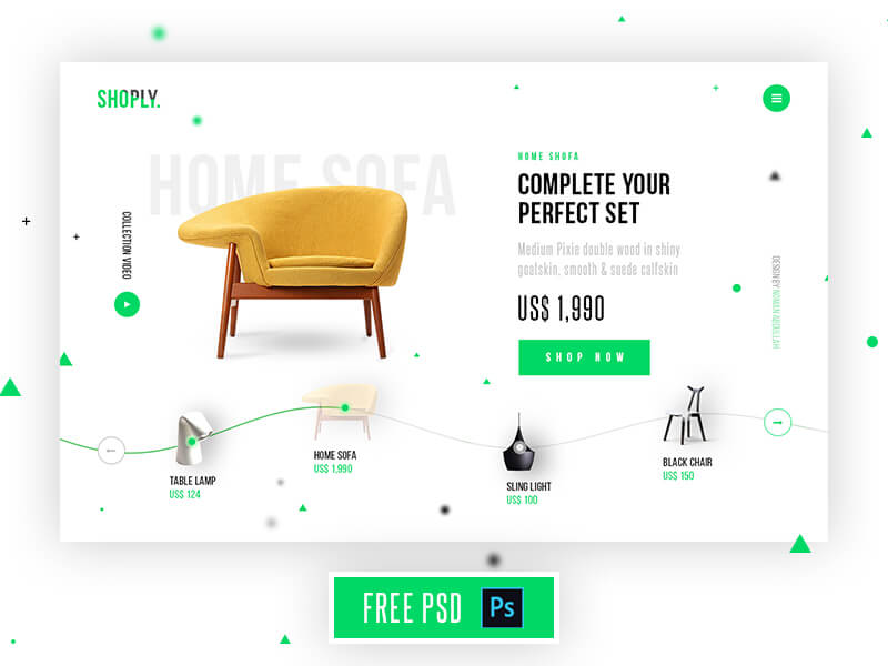 Shoply Homepage PSD