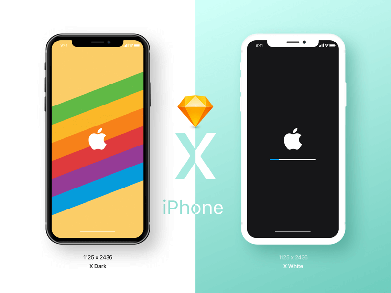 iPhone X Mockup Sketch