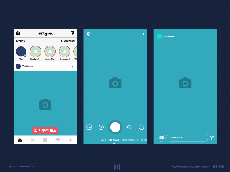instagram stories design PSD-Ai