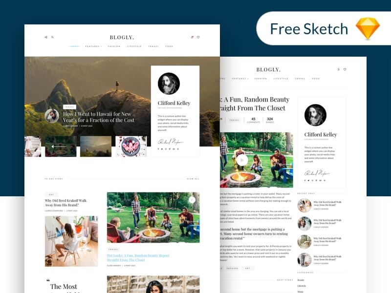 Blog Template Free